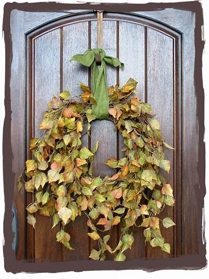 Fall Wreath Wreaths Simple Havesomedecorum Nature Leaves
