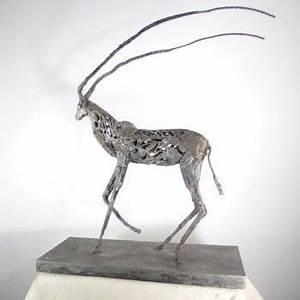 Soudure à L étain Sur Acier : l 39 uvre antilope de serge sangan restitue avec modernit le sujet animalier avec un proc d ~ Maxctalentgroup.com Avis de Voitures