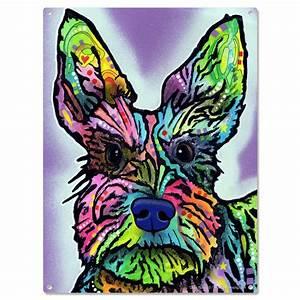 Schnauzer Dog Dean Russo Metal Sign Stella Pop Art Pet