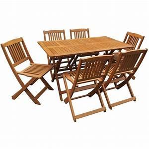 Table Jardin Bois Pliante : salon de jardin bois exotique hongkong table pliante 6 chaises pliantes 1063 66799 ~ Teatrodelosmanantiales.com Idées de Décoration