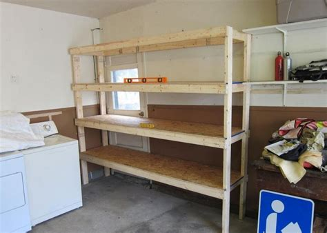 simple wooden garage shelves furniture design ideas