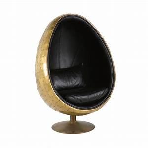 Maison Du Monde Sessel : fauteuil uf indus en cuir noir coquille maisons du monde ~ Watch28wear.com Haus und Dekorationen