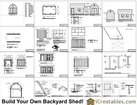 10x16 gambrel barn shed plans 10x16 barn shed plans