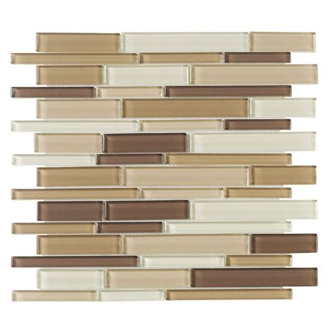 Jeffrey Court Glass Mosaic Tile by Jeffrey Court Brown Pencil 12 In X 12 In X 8 Mm