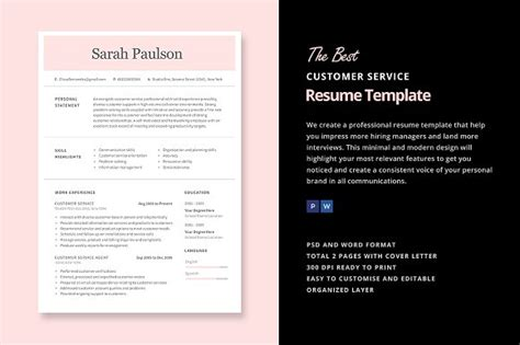 How To Word Customer Service On Resume by 22 Best Customer Service Representative Resume Templates