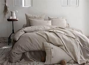 Linge De Lit Lin : drap housse lin naturel taille 140x190 160x200cm 180x200cm ~ Teatrodelosmanantiales.com Idées de Décoration