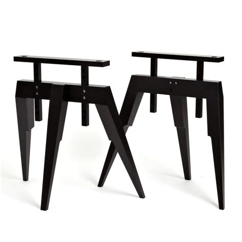 treteaux pour bureau tréteau bois tréteaux noir pour bureau ou table compass