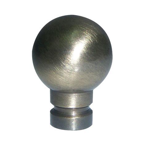 shop portfolio antique brass l finial at lowes com