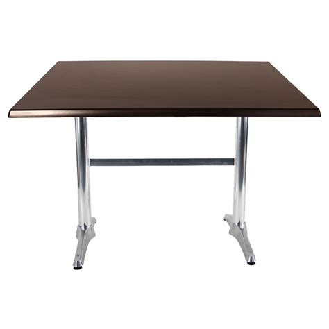 silver table l base 800 x1200mm isotop table in dark walnut wenge café