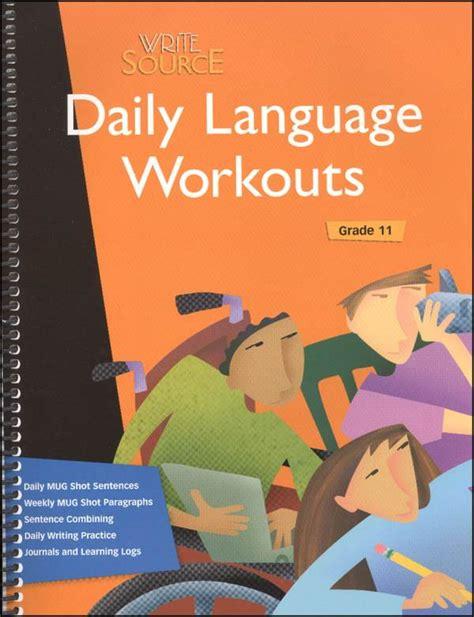 Write Source Daily Language Workout Grade 11 (2007) (035845) Details  Rainbow Resource Center, Inc