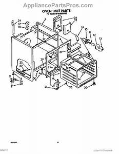 Parts For Whirlpool Rf366bxvn2  Oven Unit Parts