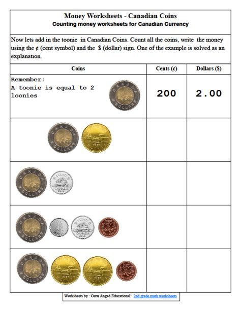 3rd grade math money lessons and worksheets steemit