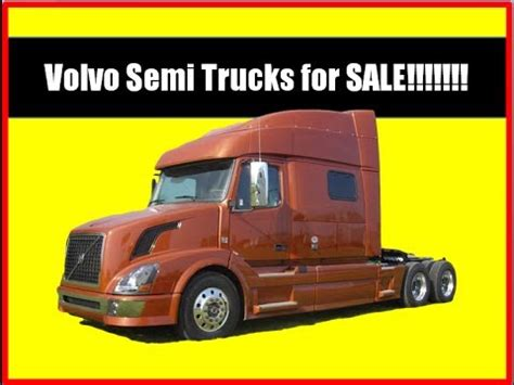 commercial truck for sale volvo volvo semi trucks for sale youtube