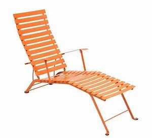 Chaise Longue Pliante : chaise longue pliante bistro de fermob carotte ~ Melissatoandfro.com Idées de Décoration