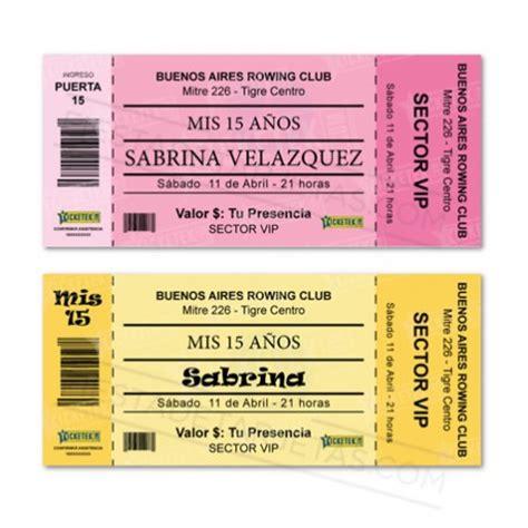 invitacion xv anos ticket soyxv tarjeta 15 a 241 os quince013 fiestadetarjetas