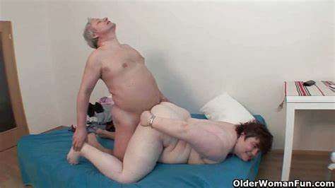 Like Granny Pleases Grandpa In Law Slender Granny Have The Most Of Grandpa'S Large Dick