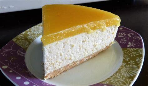 Receptes.lv - Mango siera kūka ar apelsīnu želeju