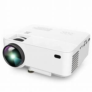 DBPOWER Upgraded LED Projector Iphoneipad By USB Cord
