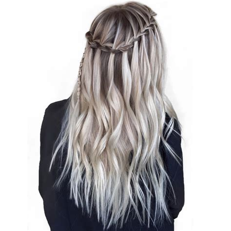 flowing waterfall braid styles waterfall braid