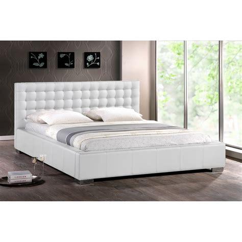White King Headboard Upholstered by White Modern Bed With Upholstered Headboard King