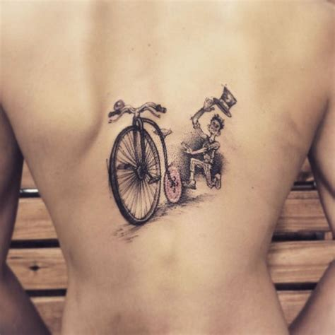 chasing bicycle tattoo  tattoo ideas gallery