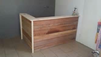 tresen design theke aus paletten eigenkreationen aus steigerholz