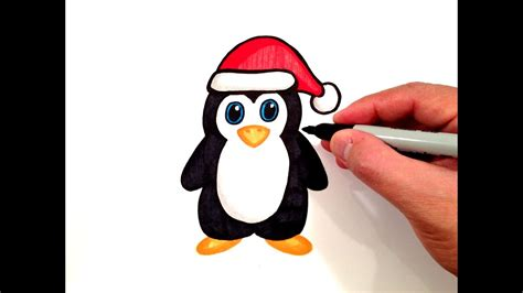 How to draw a cartoon penguin drawing lesson. Cute Penguin Drawing at PaintingValley.com | Explore ...