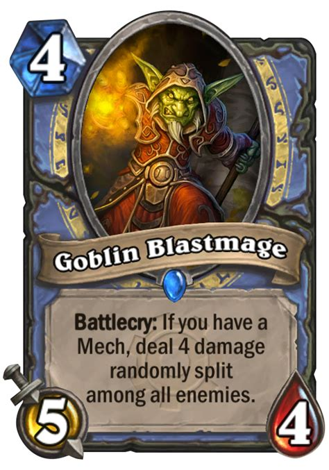 hearthstone starter decks mage goblin blastmage hearthstone card