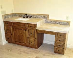makeup vanity or dressing table mediterranean bathroom