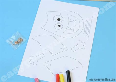 movable bat paper doll movable bat paper doll easy peasy and 5006
