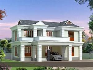 1742, Square, Feet, 3, Bedroom, Modern, Double, Floor, Home, Design
