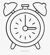Clock Coloring Alarm Cartoon Netclipart Antique sketch template