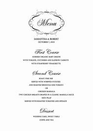 best wedding menu template ideas and images on bing find what