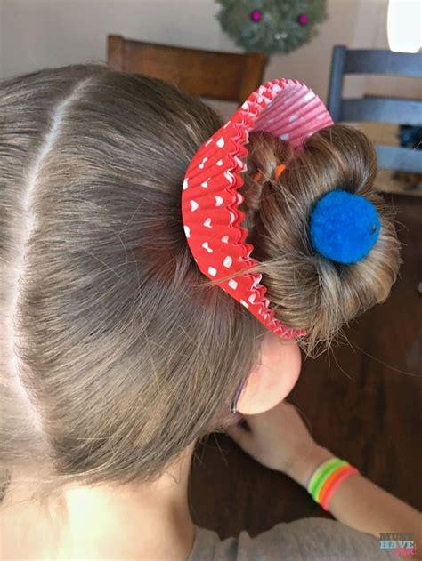 crazy hair day ideas girls cupcake buns  cupcake