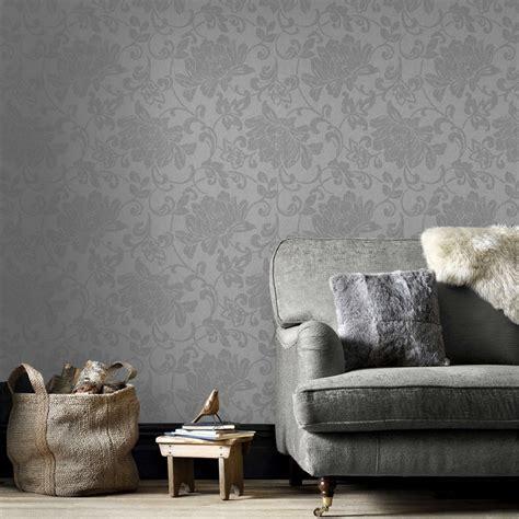 Superfresco Easy Jacquard Grey 52cm X 10m Wallpaper