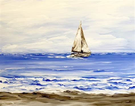 Small Boat On The Ocean by Learn To Paint Small Boat On The Ocean
