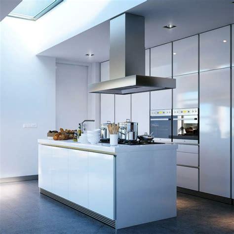 cuisine semi ouverte sur salon idée cuisine avec îlot perspective mouvement lumière