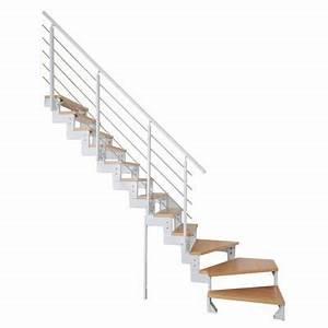 Escalier 1 4 Tournant Gauche : escalier 1 4 tournant gauche blanc ch ne tempo castorama ~ Dode.kayakingforconservation.com Idées de Décoration