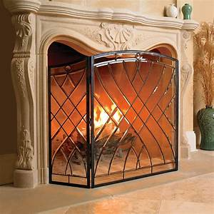 Victoria, Glass, Fireplace, Screen, -, Traditional, -, Fireplace, Accessories