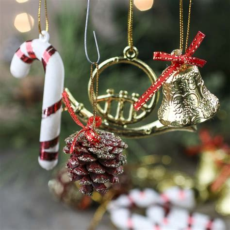 assorted christmas ornaments on sale holiday crafts