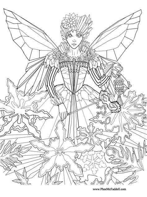 christmas fairy coloring pages   print