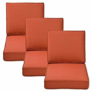Belvedere 6 piece outdoor replacement patio sofa cushion for Sandhill outdoor sectional sofa set replacement cushions