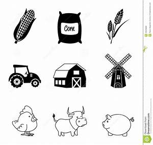 Farm icons stock vector. Image of farming, graphic ...