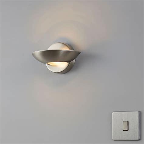 segovia satin chrome effect wall uplighter wall lights