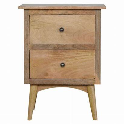 Bedside Drawers Drawer Wood Tables Rustic Nordic