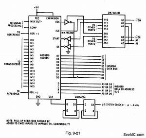 8080 Interface With Partial Decoding - Basic Circuit - Circuit Diagram