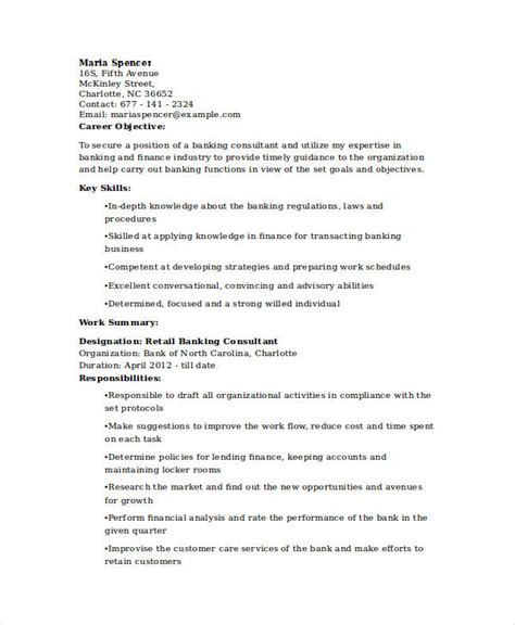 retail banking experience resume banking resume sles 45 free word pdf documents free premium templates