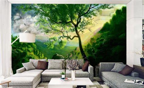 wallpaper scenery  walls custom  wall murals green