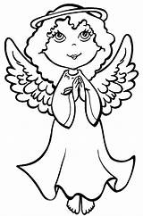 Angel Coloring Christmas Pages sketch template