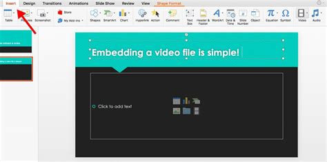 embed  video  powerpoint biteable